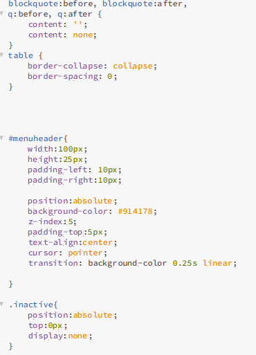 Three easy hover menus with HTML, CSS and Javascript- Part Three